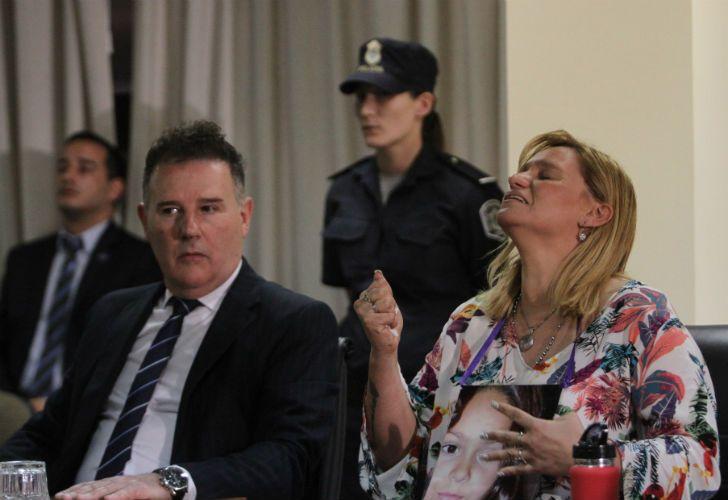 La madre de Candela Rodríguez en la lectura del fallo.