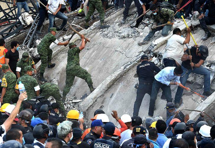 Devastadoras imágenes tras el sismo de México.
