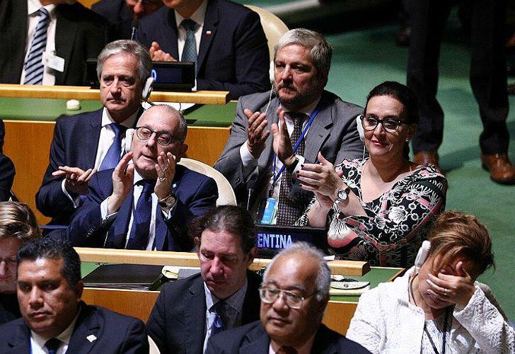 Gabriela Michetti preside la delegación argentina ante las Naciones Unidas.