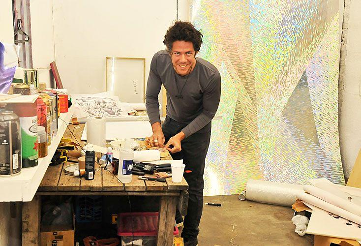 Colores. Ramiro Oller comparte el taller Maturín con colegas.