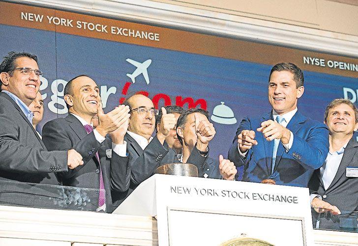 El humor WALL STREET. Despegar tocó la campanita esta semana en el NYSE.