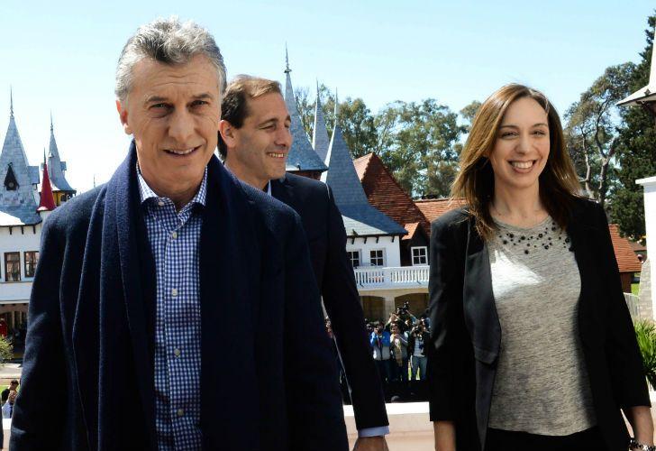 Macri junto a Vidal la semana pasada en una de sus recorridas.