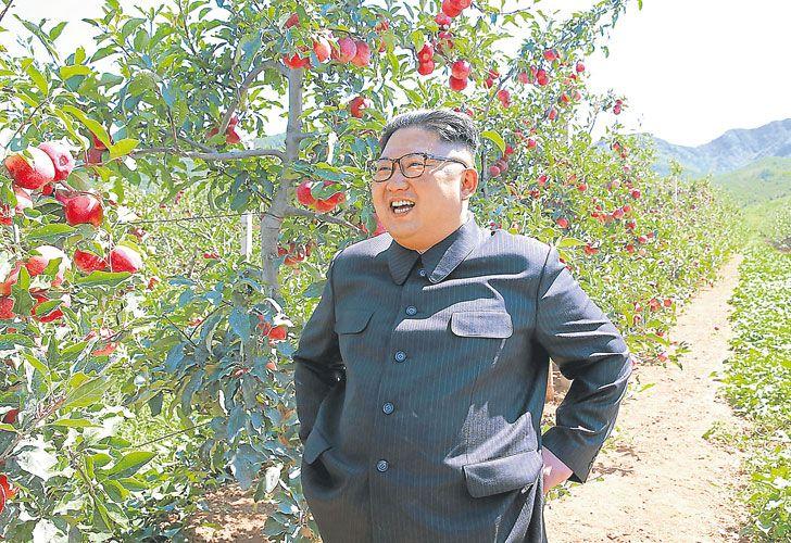 """Campestre. El """"Querido Líder"""" Kim Jong-un, en una imagen difundida por la propaganda oficial."""