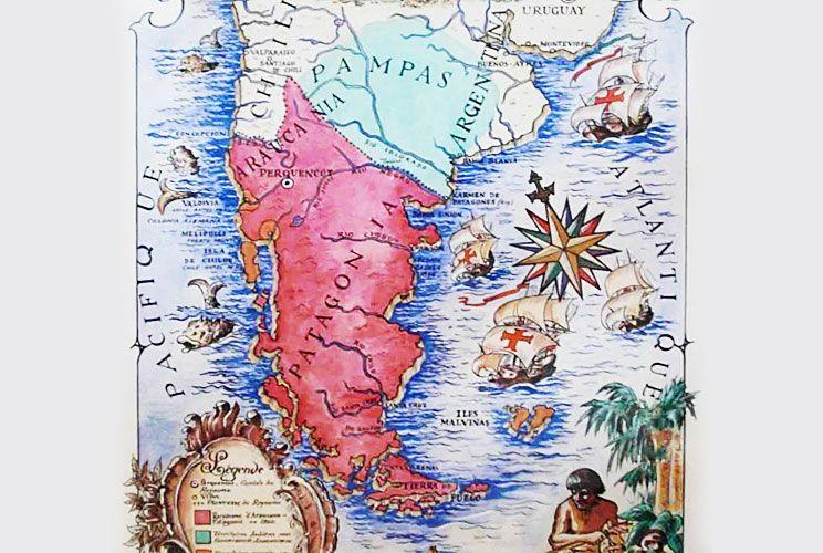 Imagen. Documento de la RAM y mapa del reino que reivindicó en 1860 una casa real francesa que llega a nuestros días.