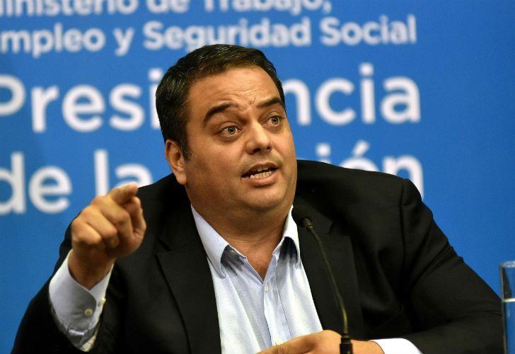 El ministro de Trabajo, Jorge Triaca.