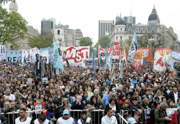 Movilización en Plaza de Mayo por Santiago Maldonado