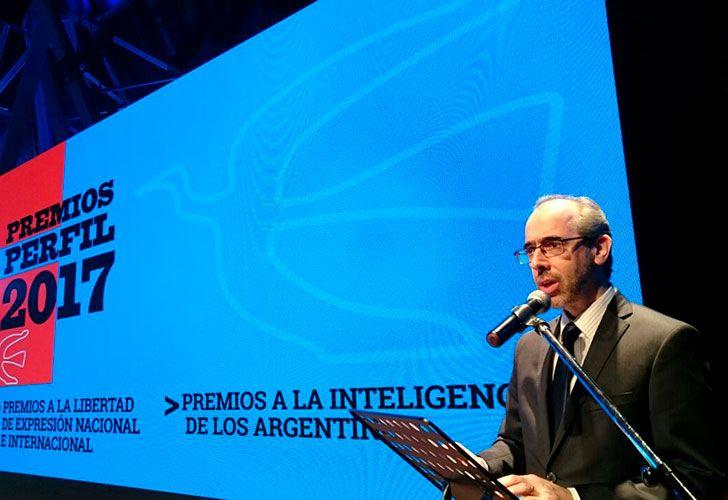 Gustavo González en los Premios Perfil 2017