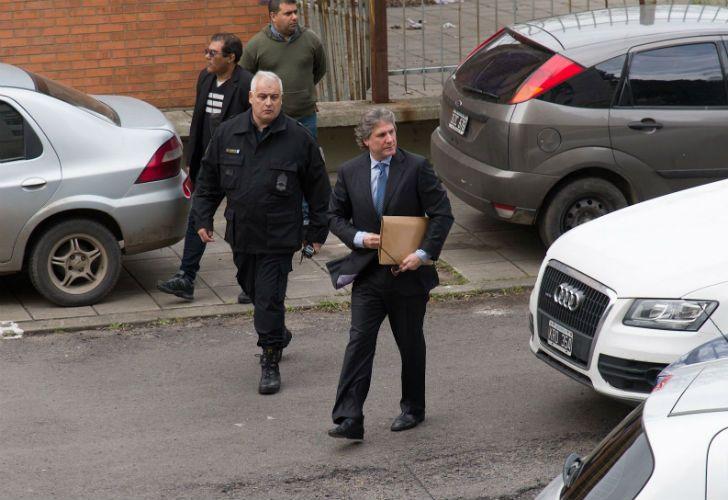 Boudou llegó a los Tribunales de Comodoro Py.
