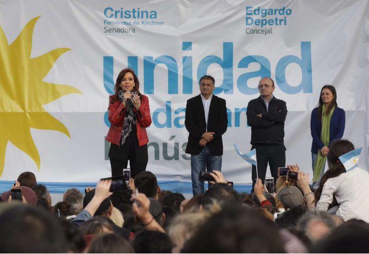 Cristina dio un discurso en Lanús.