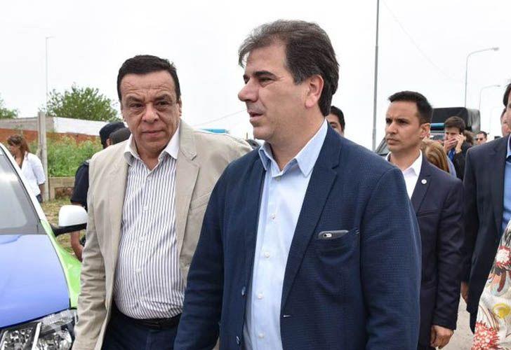 Cristian Ritondo junto a Osvaldo Cáffaro, intendente de Zárate