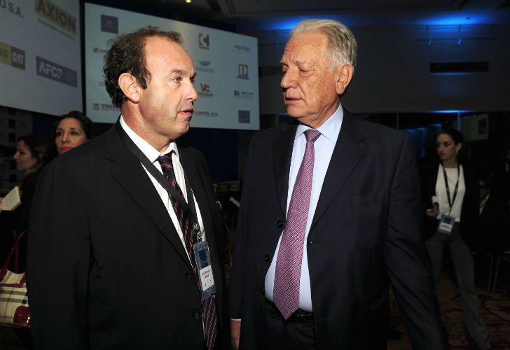 MESA CHICA. Roggio participó de la Convención de la construcción, con cierre a cargo de Macri.