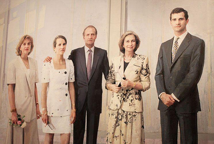 Familia real. Cuadro icónico del pintor y escultor español Antonio López.