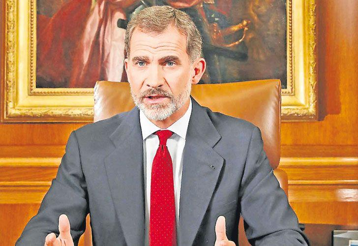 Impopular. Felipe carga con el rechazo catalán a la monarquía.