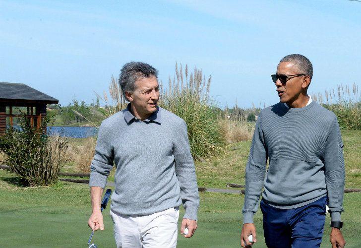 El presidente Mauricio Macri recibió la visita del ex presidente norteamericano, Barack Obama, que vino al país para participar de una Convención sobre Economía Verde. En el encuentro aprovecharon para jugar al golf en la localidad bonaerense de Bella Vista.