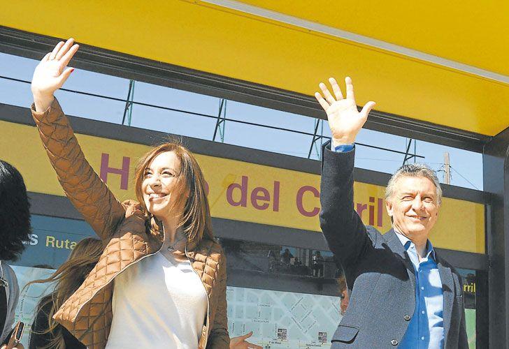 """""""HOY ES UN DiA CAMBIEMOS"""". Macri parafraseó al peronismo el jueves en el Conurbano."""