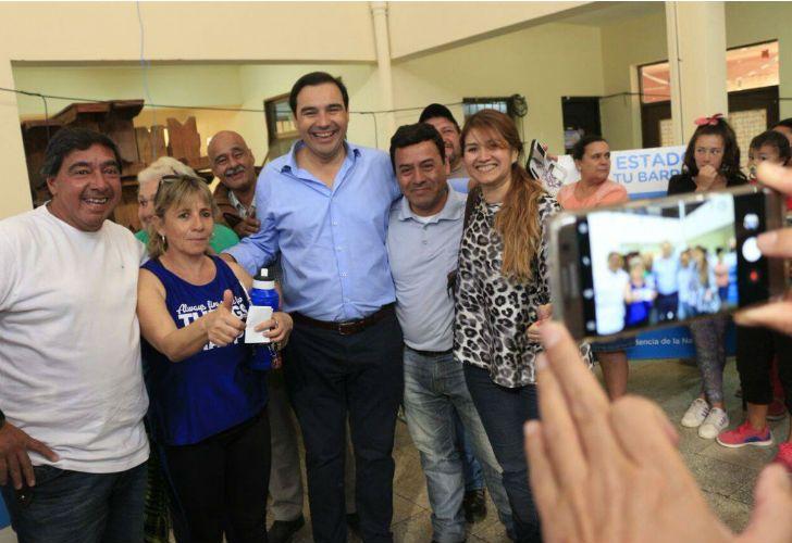 Gustavo Valdés ya festeja el triunfo en Corrientes.