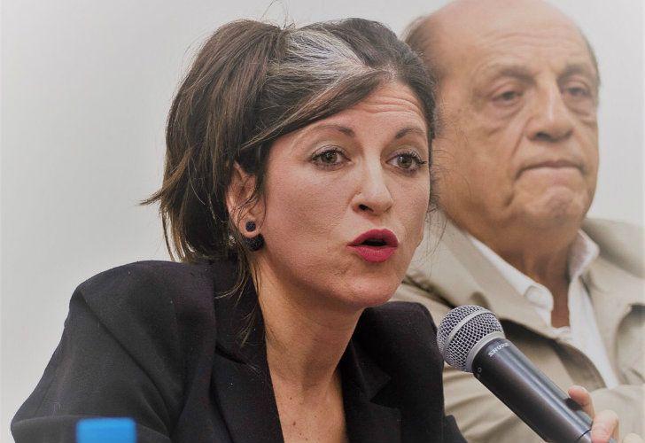 La primera candidata a diputada por la provincia de Buenos Aires de Unidad Ciudadana, Fernanda Vallejos.