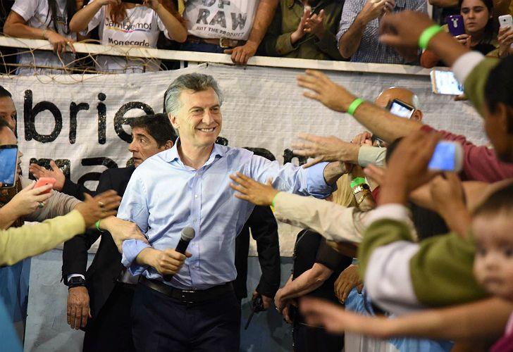 Macri, en campaña.