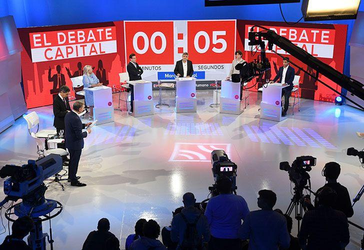 Elisa Carrió (Vamos Juntos), Marcelo Ramal (FIT), Daniel Filmus (Unidad Ciudadana), Martín Lousteau (Evolución) y Matías Tombolini (1País), los candidatos a diputados nacionales por la Capital Federal