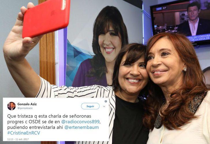 Vernaci con Cristina y el tuit de Gonzalo Aziz, que después borró