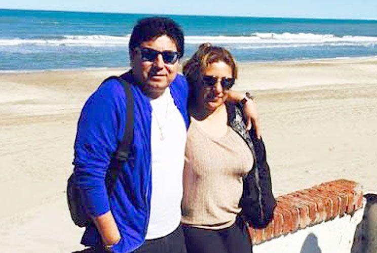 Lujos. Marcos Estrada Gonzales vivía con su mujer (foto) en un country de Ezeiza.