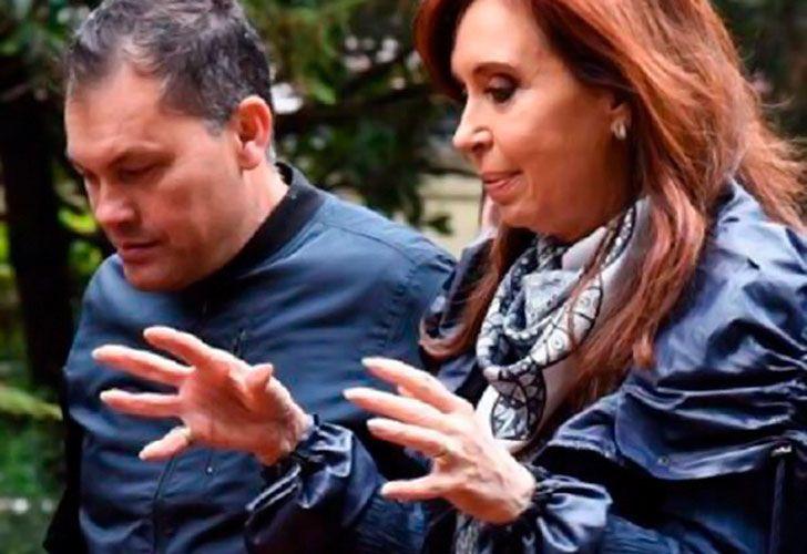 Walter Festa junto a Cristina Fernández de Kirchner
