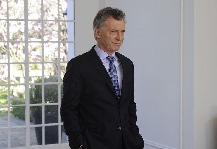 El presidente Mauricio Macri en la residencia de Olivos