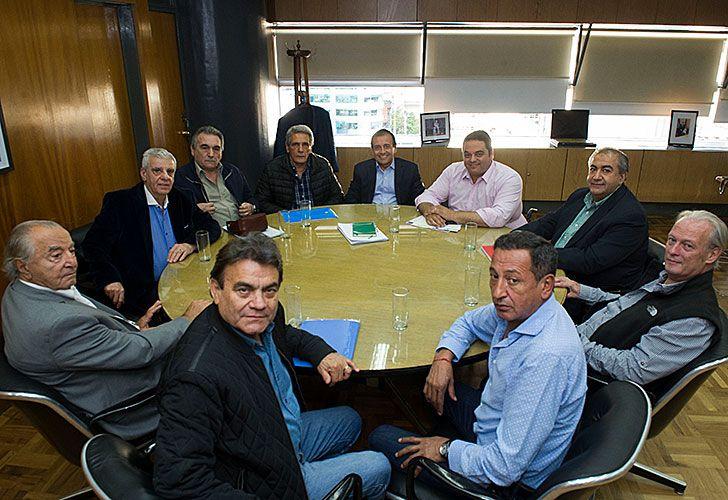 El Ministro Triaca reunido con la cúpula de la CGT