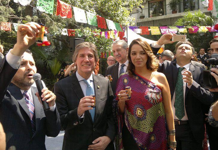 Amado Boudou junto a Mónica García de la Fuente.