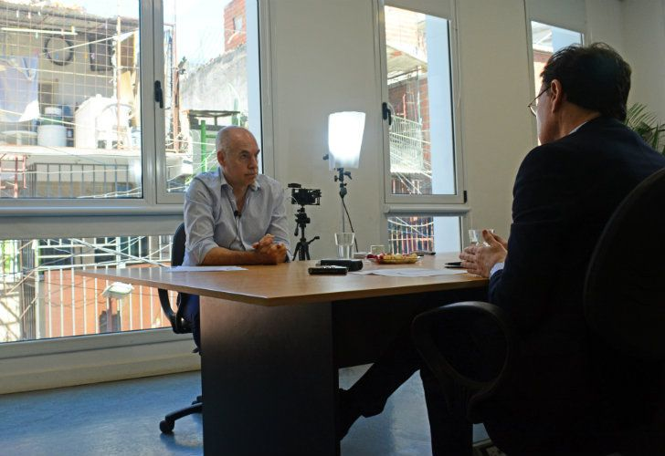 Rodríguez Larreta en una entrevista con Jorge Fontevecchia.