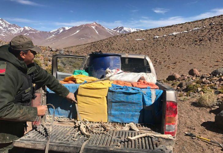 Gendarmería secuestró más de 500 kilos de marihuana cerca del volcán Aracar