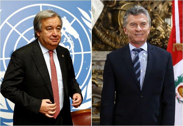 Mauricio Macri se reúne con António Guterres.