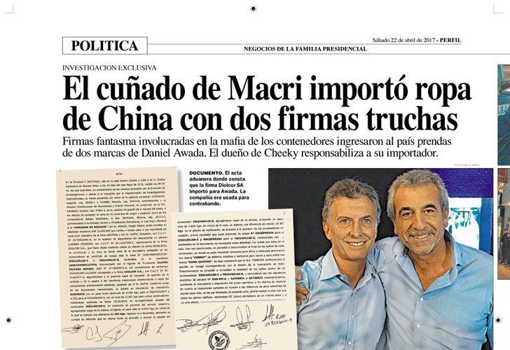 Premian una investigación de Perfil sobre los negocios del cuñado de Macri.
