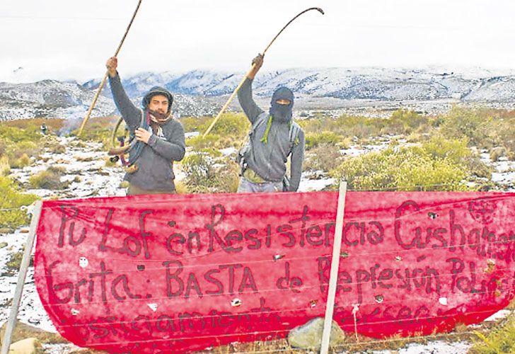 Reclamo. La invasión en Cushamen, Chubut, donde vive una mayoría de la comunidad originaria.