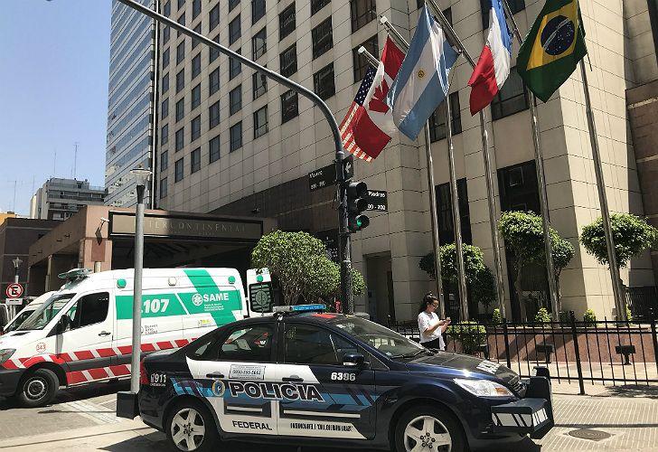 Explosión en el Hotel Intercontinental, en Moreno al 800.