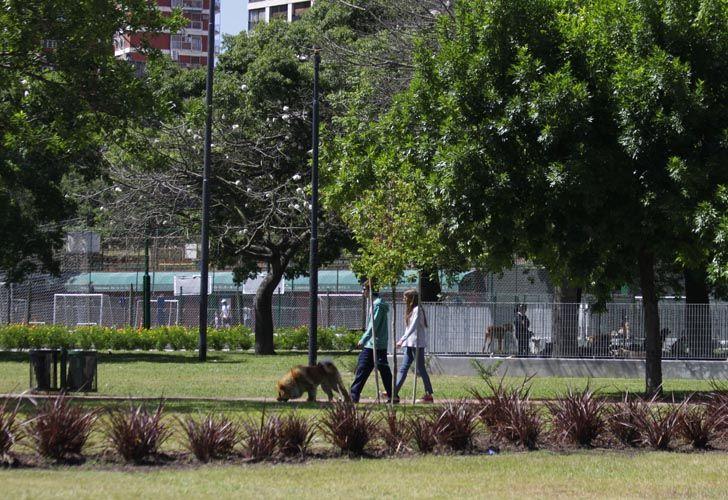 Así quedó el Parque Las Heras tras las obras de puesta en valor.