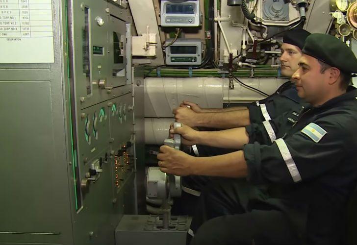 El interior del submarino ARA San Juan.