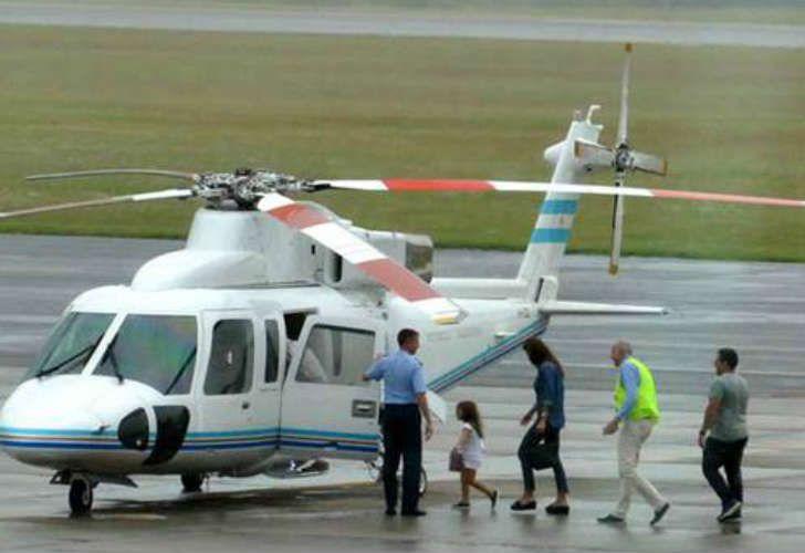 El presidente y su familia sufrieron un aterrizaje forzoso (foto de archivo)
