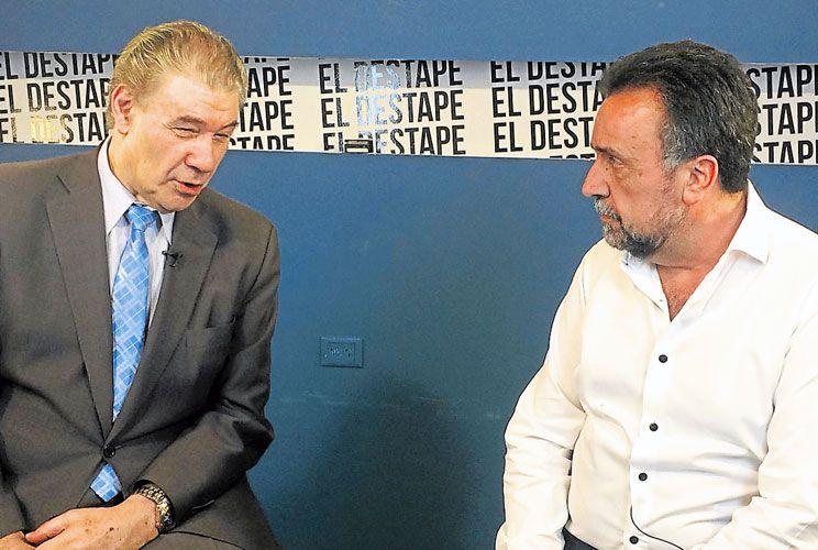 Juntos. Navarro, otro ex C5N, entrevistó ayer a Morales en su web.
