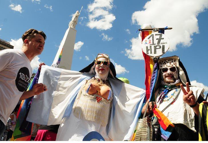 Se realiza en la Ciudad de Buenos Aires, una nueva edición de la Marcha del orgullo Gay.