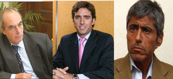 PROTAGONISTAS. Ministro de Inversión y Financiamiento, Ricardo Sosa; Federico Tomasevich (Puente Hermanos) y Juan Pablo Quinteros (legislador, Frente Cívico).