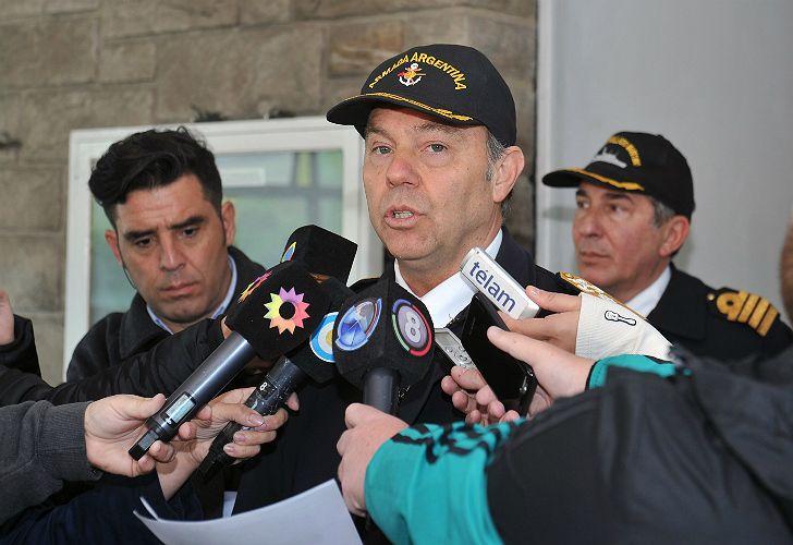 El jefe de la Base Naval de Mar del Plata, contralmirante Gabriel González.