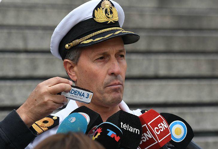 Enrique Balbi, vocero de la Armada.