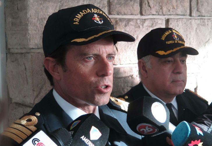 El capitán de navío Gabriel Galeazzi, vocero de la fuerza en Mar del Plata.
