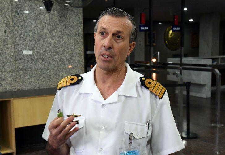 El vocero de la Armada Argentina, Enrique Balbi.