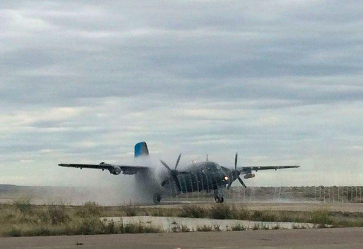 Despliegue de estos últimos días, y que aún se mantiene, de aviones B-200 y Tracker de la Armada Argentina desde la Base Aeronaval Almirante Zar en Trelew