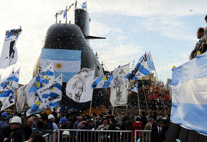 Acto de presentación de obras sobre el ARA San Juan en 2011.
