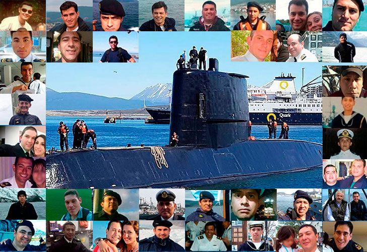 Los tripulantes del submarino ARA San Juan