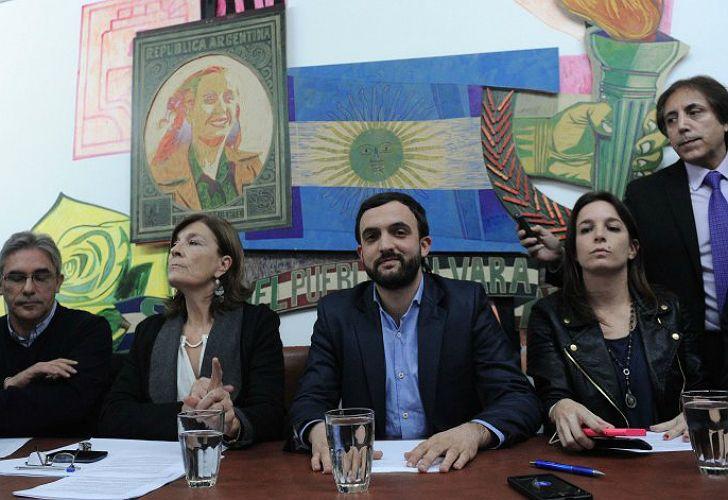 Los diputados del Movimiento Evita, encabezados por Leonardo Grosso, criticaron a Patricia Bullrich.