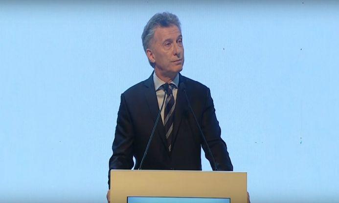 Macri en el lanzamiento del G20 en Argentina